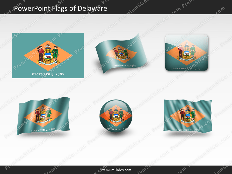 Free Delaware Flag PowerPoint Template