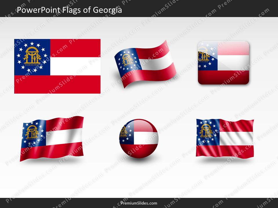 Free Georgia Flag PowerPoint Template