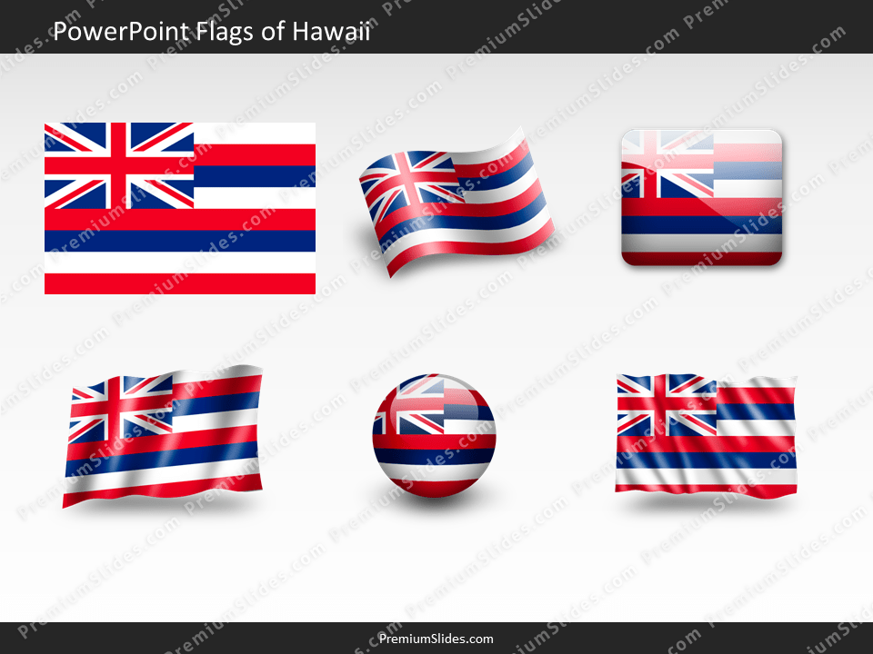Free Hawaii Flag PowerPoint Template