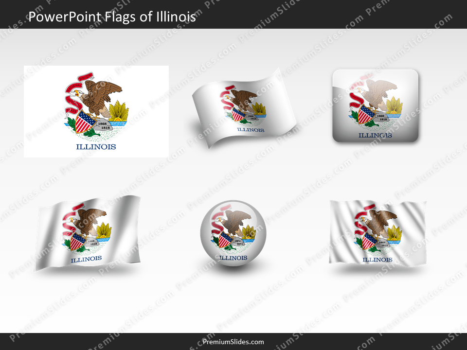 Free Illinois Flag PowerPoint Template