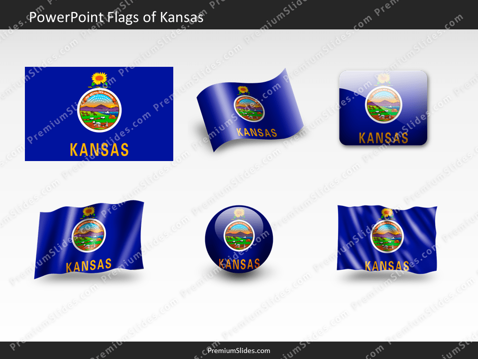 Free Kansas Flag PowerPoint Template
