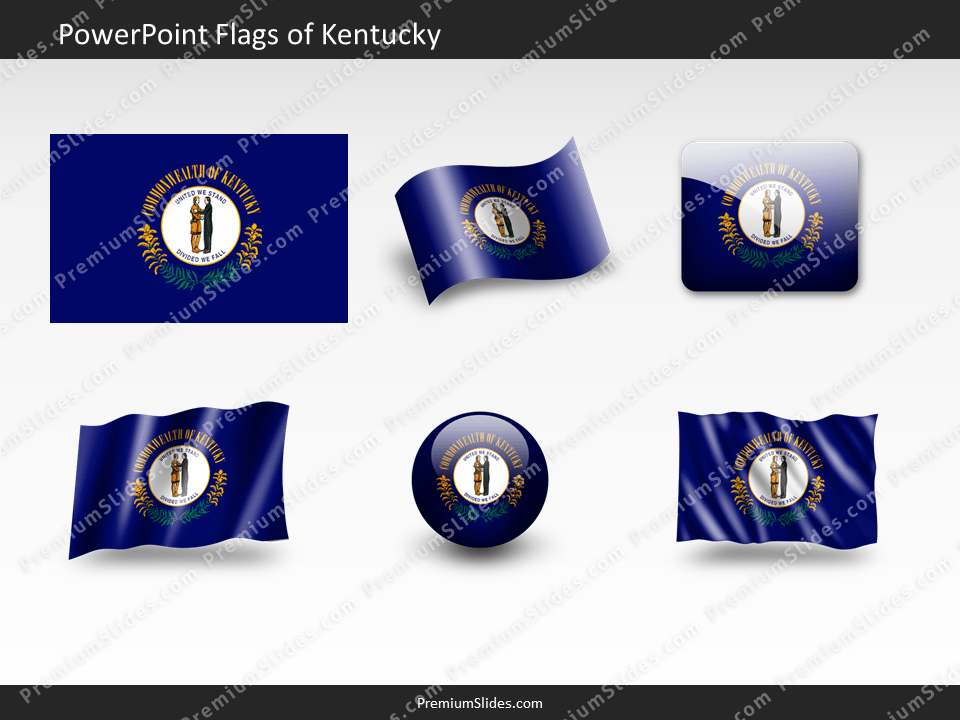Free Kentucky Flag PowerPoint Template