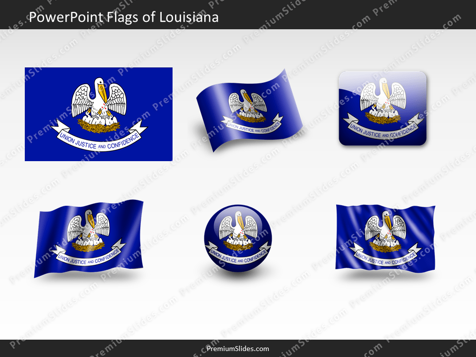 Free Louisiana Flag PowerPoint Template