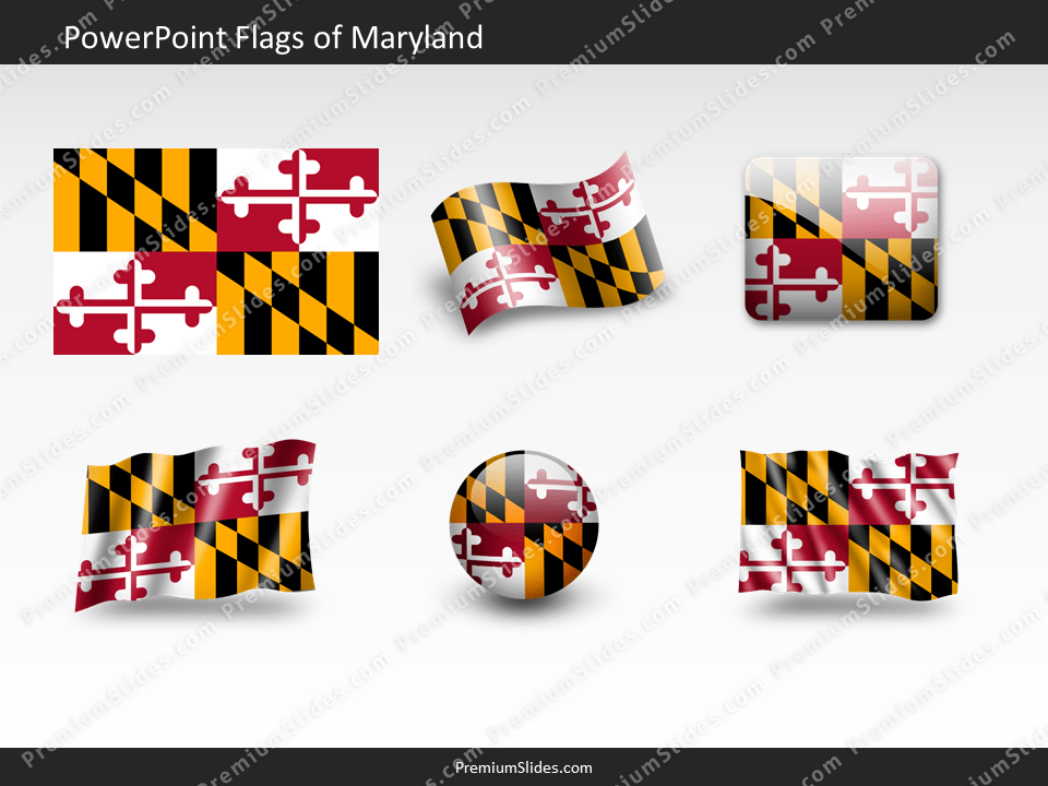 Free Maryland Flag PowerPoint Template