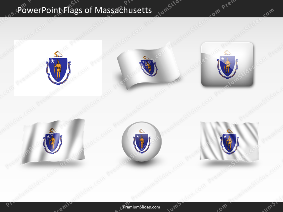Free Massachusetts Flag PowerPoint Template