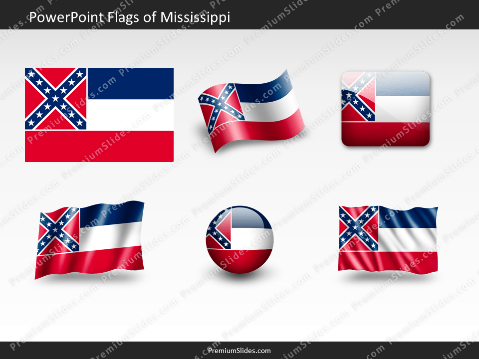 Free Mississippi Flag PowerPoint Template