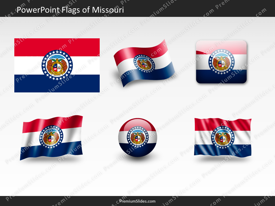 Free Missouri Flag PowerPoint Template