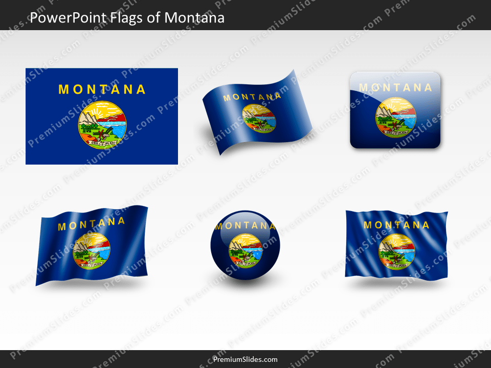 Free Montana Flag PowerPoint Template