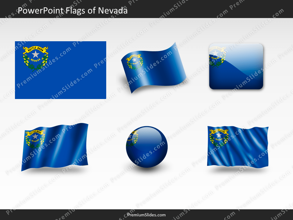 Free Nevada Flag PowerPoint Template