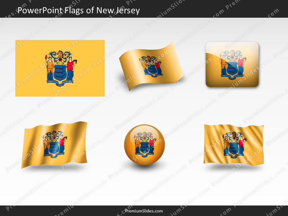 Free New-Jersey Flag PowerPoint Template