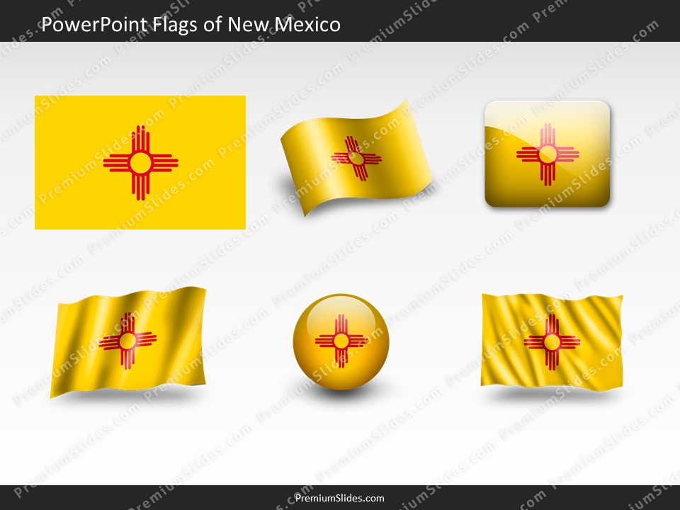 Free New-Mexico Flag PowerPoint Template