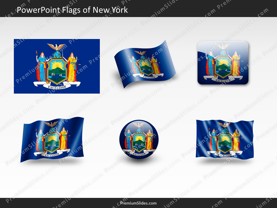 Free New-York Flag PowerPoint Template