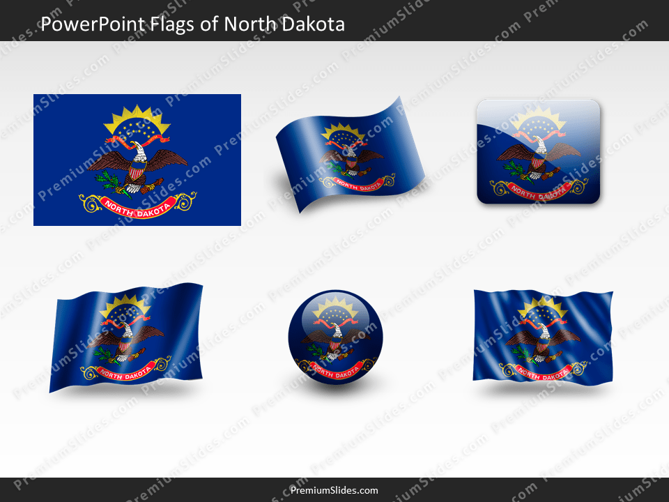 Free North-Dakota Flag PowerPoint Template
