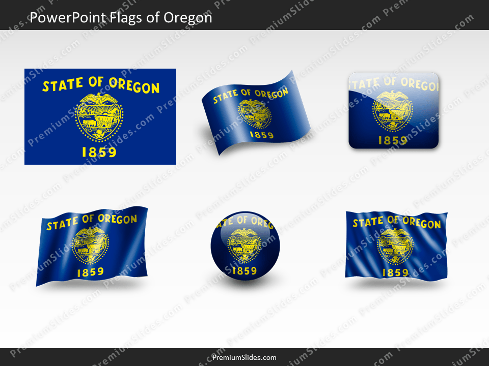 Free Oregon Flag PowerPoint Template