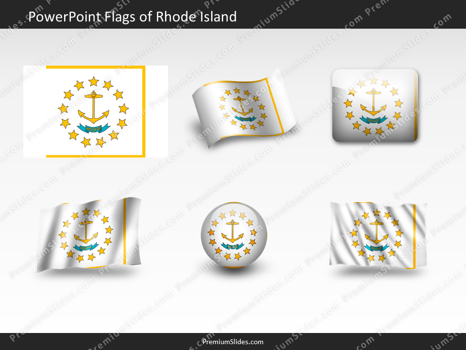 Free Rhode-Island Flag PowerPoint Template