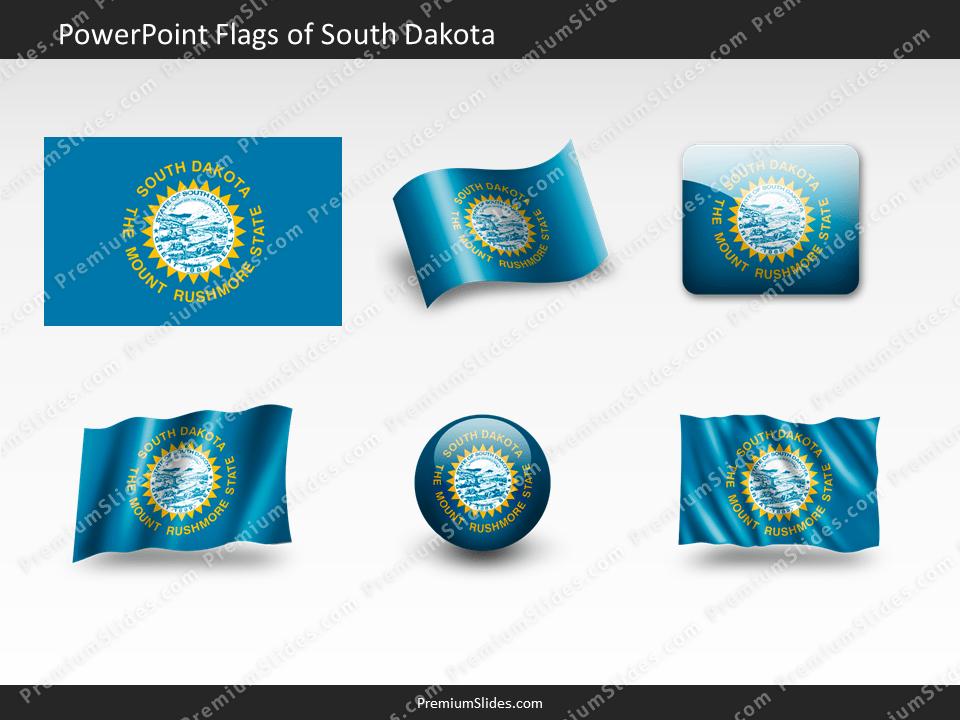 Free South-Dakota Flag PowerPoint Template