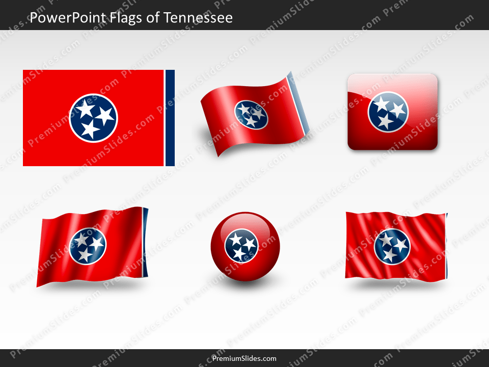 Free Tennessee Flag PowerPoint Template