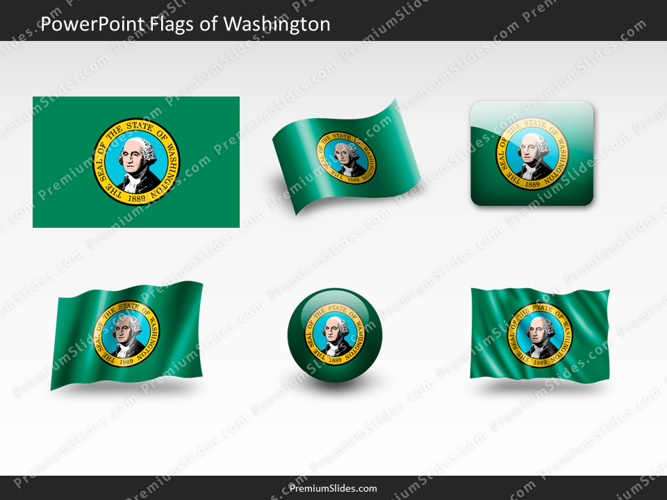 Free Washington Flag PowerPoint Template