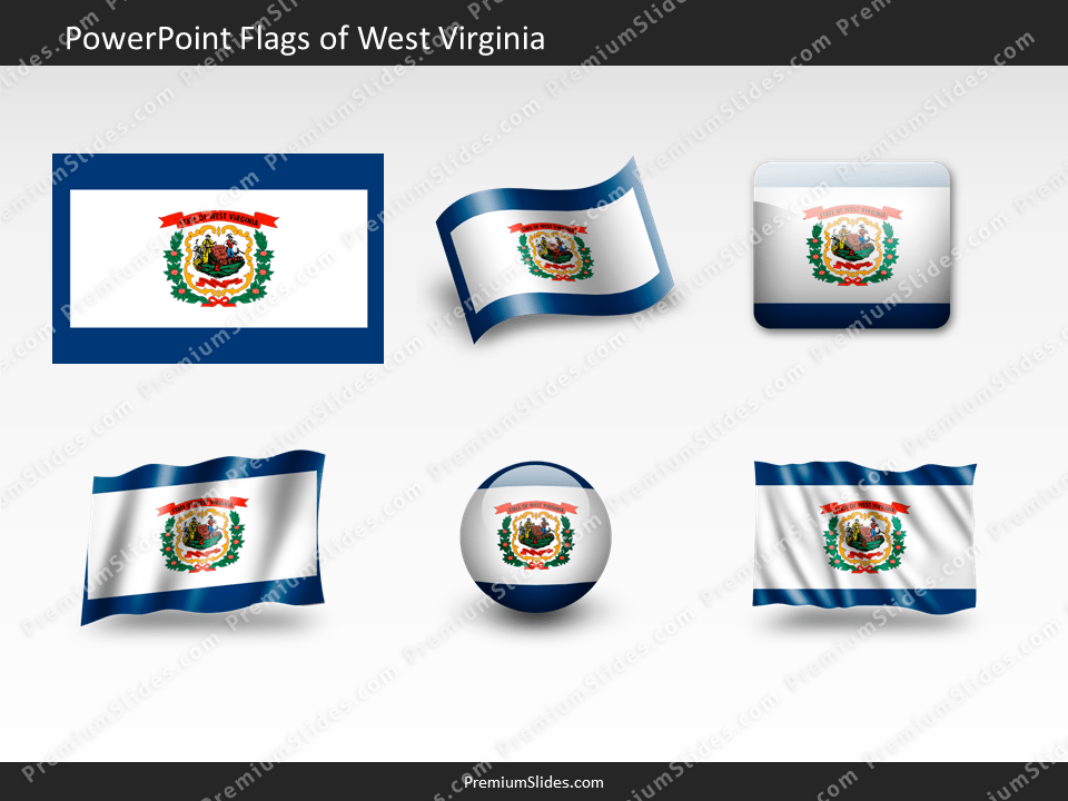 Free West-Virginia Flag PowerPoint Template
