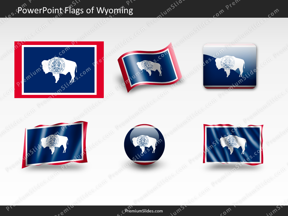 Free Wyoming Flag PowerPoint Template