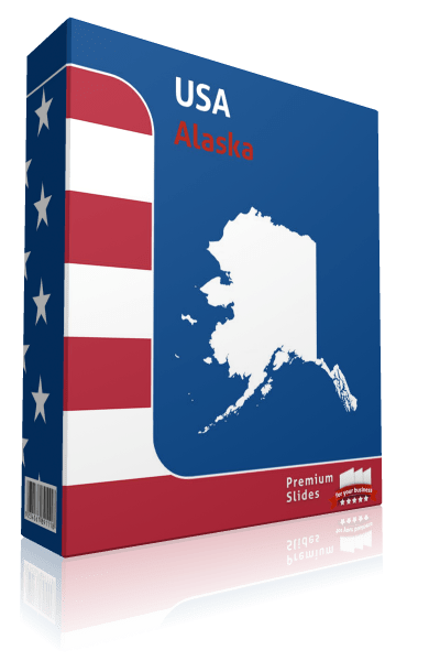 Alaska County Map Template for PowerPoint