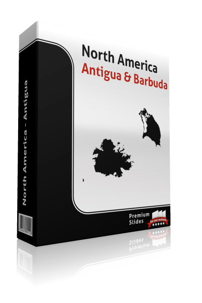 powerpoint map antigua and barbuda