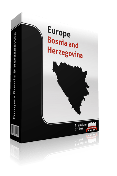 powerpoint map bosnia and herzegovina