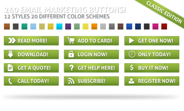 Custom Email Marketing Buttons Collection Package
