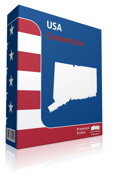 Connecticut County Map Template for PowerPoint