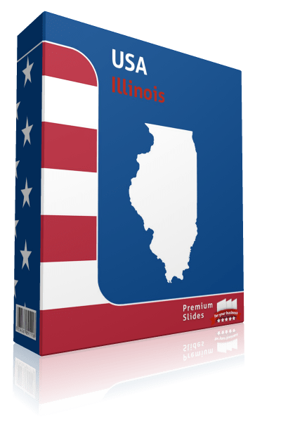 Illinois County Map Template for PowerPoint
