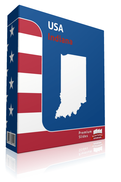 Indiana County Map Template for PowerPoint