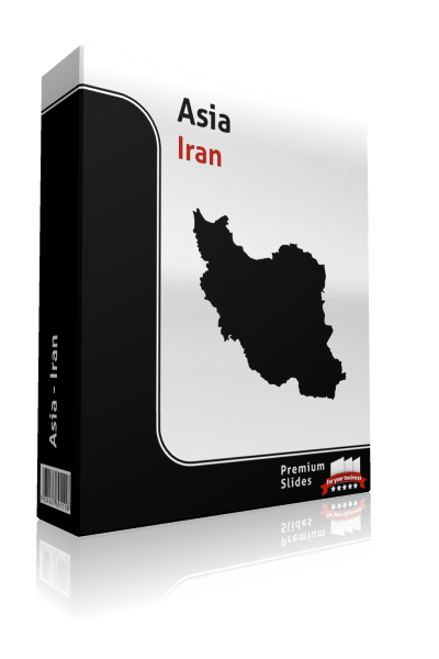 powerpoint map iran