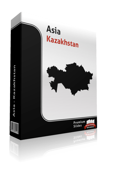 powerpoint map kazakhstan