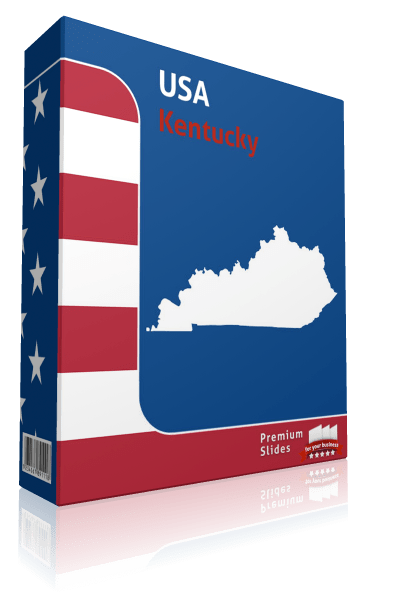 Kentucky County Map Template for PowerPoint