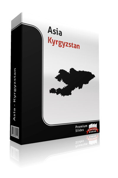 powerpoint map kyrgyzstan