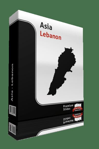 powerpoint map lebanon