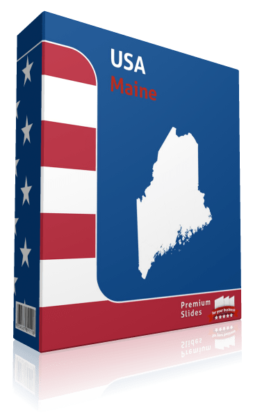 Maine County Map Template for PowerPoint