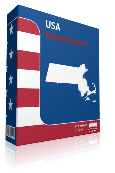 Massachusetts County Map Template for PowerPoint