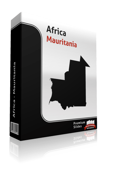 powerpoint map mauritania