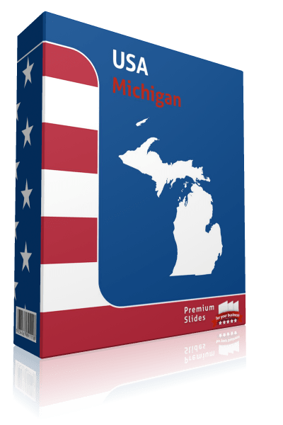 Michigan County Map Template for PowerPoint