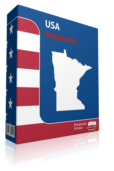 Minnesota County Map Template for PowerPoint