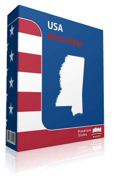 Mississippi County Map Template for PowerPoint