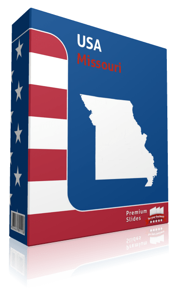 Missouri County Map Template for PowerPoint