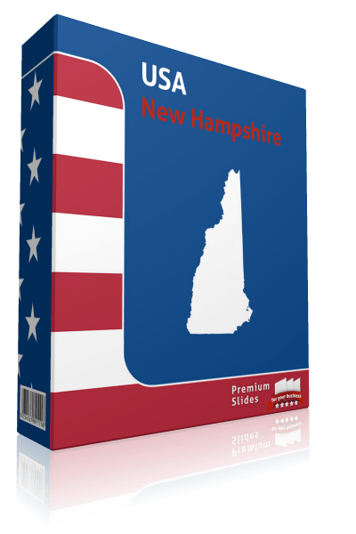 New Hampshire County Map Template for PowerPoint