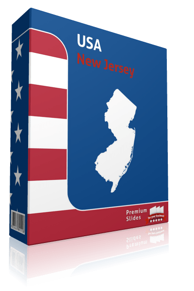 New Jersey County Map Template for PowerPoint