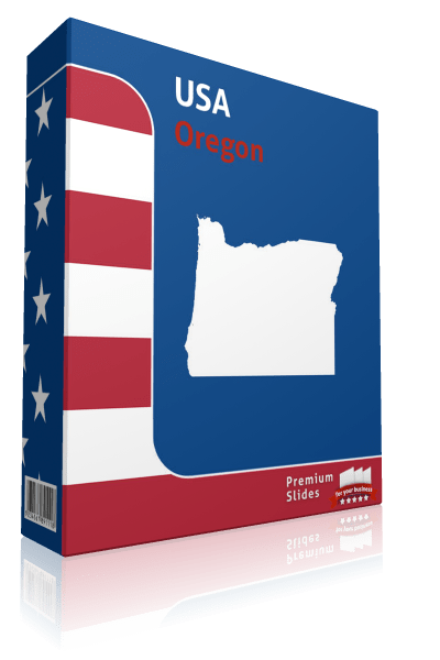 Oregon County Map Template for PowerPoint