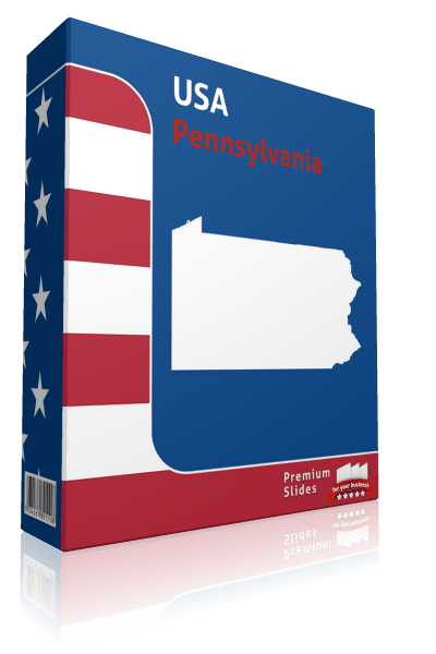 Pennsylvania County Map Template for PowerPoint