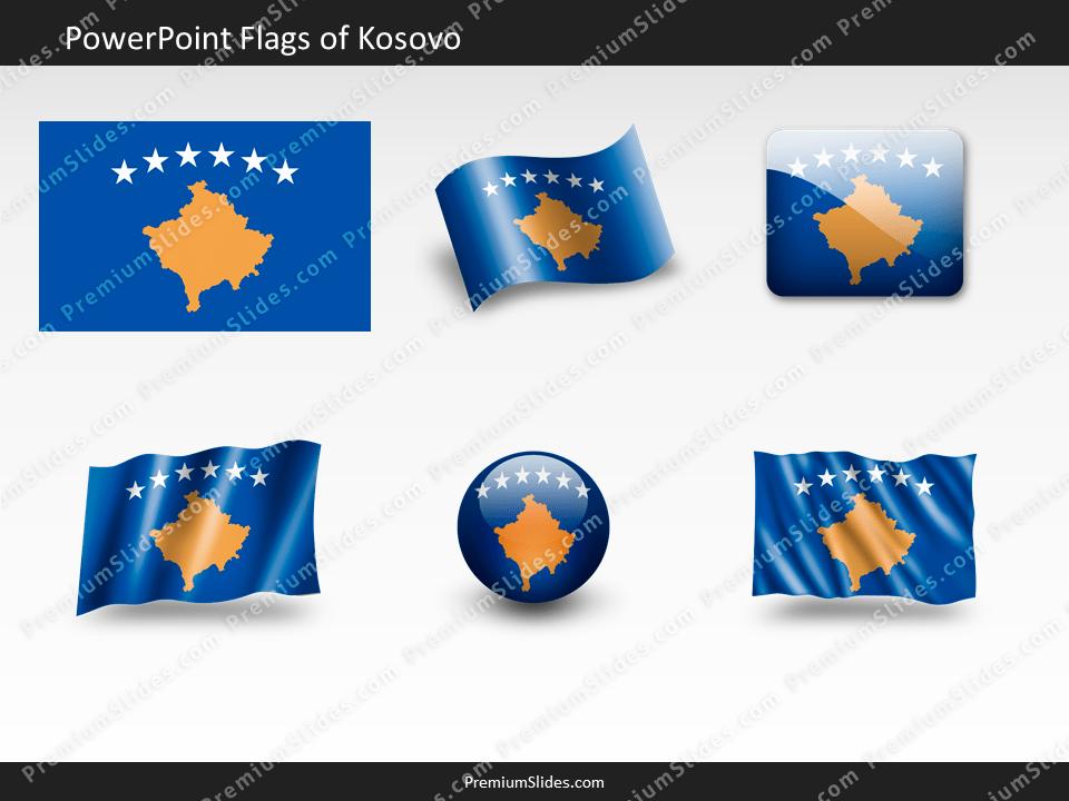 Free Kosovo Flag PowerPoint Template