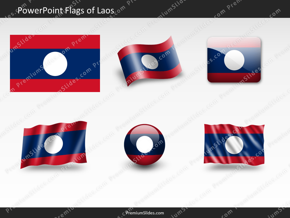 Free Laos Flag PowerPoint Template