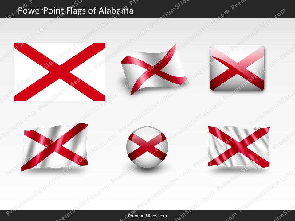 Free Alabama Flag PowerPoint Template